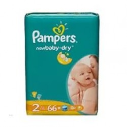 Подгузники Pampers New Baby-Dry  2 (3-6 кг) 66 шт.