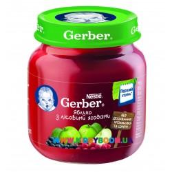 Пюре Gerber Яблоко, лесные ягоды (с 5 мес.) 130 гр.