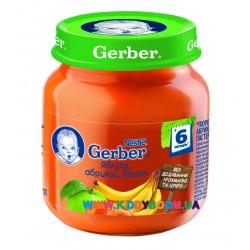 Пюре Gerber Яблоко, абрикос, банан (с 6 мес.) 130 гр.