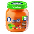 Пюре Gerber Яблоко, персик (с 5 мес.) 130 гр.