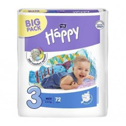 Подгузники Bella Happy Baby Midi 3 (5-9 кг) 72 шт.