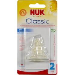 Соска силиконовая ортодонтическая 6-18 мес. NUK 10721156