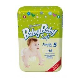 Подгузники BabyBaby Soft Premium Junior 5 (12-25 кг) 16 шт.