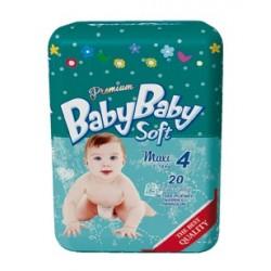 Подгузники BabyBaby Soft Premium Maxi 4 (7-18 кг) 20 шт.