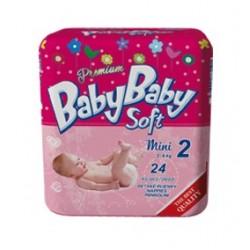 Подгузники BabyBaby Soft Premium Mini 2 (3-6 кг) 24 шт.