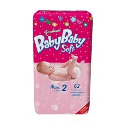 Подгузники BabyBaby Soft Premium Mini 2 (3-6 кг) 62 шт.