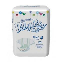 Подгузники BabyBaby Soft Стандарт Maxi 4 (7-18 кг) 20 шт.