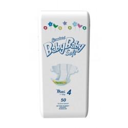 Подгузники BabyBaby Soft Стандарт Maxi 4 (7-18 кг) 50 шт.
