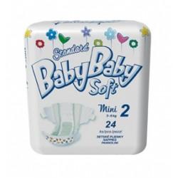 Подгузники BabyBaby Soft Стандарт Mini 2 (3-6 кг) 24 шт.