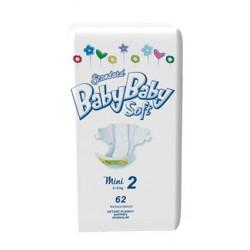 Подгузники BabyBaby Soft Стандарт Mini 2 (3-6 кг) 62 шт.