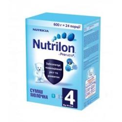 Сухая молочная смесь Nutrilon 4 с пребиотиками 600 гр.