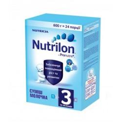 Сухая молочная смесь Nutrilon 3 с пребиотиками 600 гр.