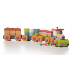 Деревянная игрушка Поезд LP-1 Кубика 11681