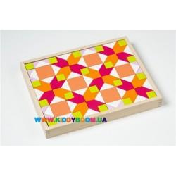 Деревянная мозаика орнамента LR-2 Кубика 11704