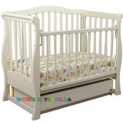 Детская кроватка «VIVA» Premium Ласка-М КР-01.VPR-03, ваниль