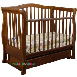 Детская кроватка VIVA Premium Ласка-М КР-01.VPR01, орех
