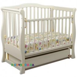 Детская кроватка VIVA Premium Ласка-М КР-01.VPR04, белый