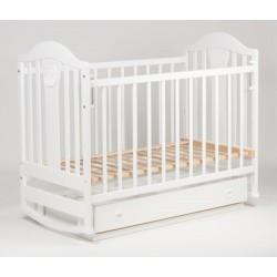 Детская кровать Ласка-М Наполеон New белый маятник (поперечный) с ящиком KB-01.NNM04