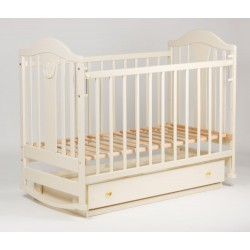 Детская кровать Ласка-М Наполеон New ваниль маятник (поперечный)  с ящиком KB-01.NNM03
