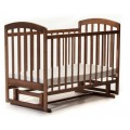 Детская кроватка Лама (без ящиков, маятник) орех Ласка-М KB-00.LММO1