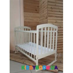 Кроватка детская Ласка-М KB-00.LA-O4 Лама белая