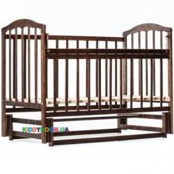 Детская кроватка с ящиком Чайка Ласка-М KB-01.CHBY1, тонированная