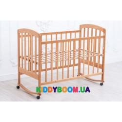 Кроватка детская Ласка-М Лама без ящиков натуральный лак KB-01.LA-O1