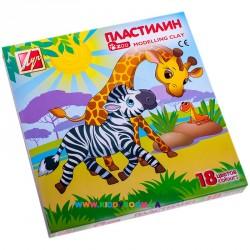 "Набор пластилина ""Zoo"" 18 цв, 243г. Луч 20С1358-08"