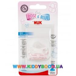Пустышка для сна Baby Rose с кольцом Nuk 10735331
