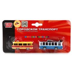 Игровой набор - городской транспорт Технопарк SB-15-06-BLC