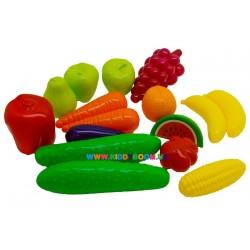 Набор Фрукты-овощи 16 шт. Orion toys 379