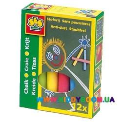 Набор цветных мелков - МАЛЫШ (12 цветов) Ses 0201S