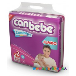 Подгузники CANBEBE Comfort Dry 2 Mini (3-6 кг) 72 шт