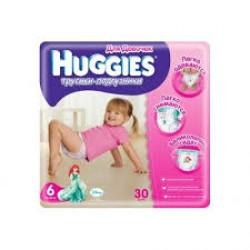 Подгузники для девочек Huggies Little Walkers 6 (16-26 кг) 30 шт. трусики