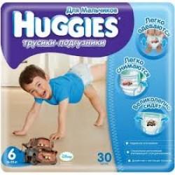 Подгузники для мальчиков Huggies Little Walkers 6 (16-26 кг) 30 шт. трусики