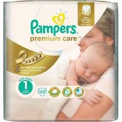 Подгузники Pampers Premium Care 1 newborn (2-5 кг) 22 шт