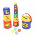 Развивающая игрушка Занимательная Пирамидка №3 (16 элементов) Полесье 52605