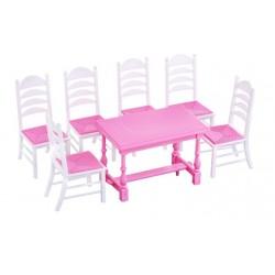 Набор мебели для кукол №6 в пакете (7 элементов) Полесье 54395 в ассортименте 2 цвета