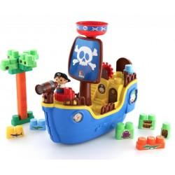 Игровой набор Пиратский корабль и конструктор (30 элем.) в коробке Полесье 62246