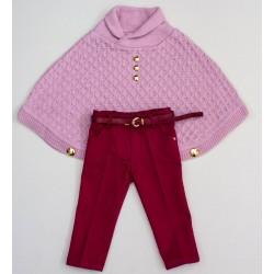 Комплект пончо, брюки  Baby Muz 461