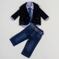 Комплект джинсы, рубашка, галстук, пиджак BomBili 3233