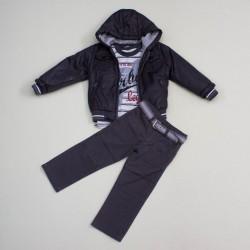 Комплект куртка, гольф, джинсы, BomBili 3246