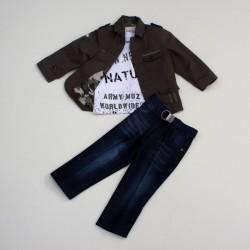 Комплект жакет, гольф, джинсы Baby Muz 4103