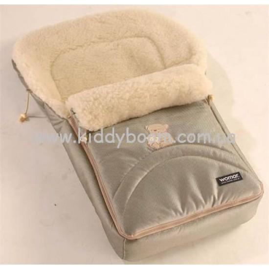 Меховой мешок в коляскудля новорожденного своими руками