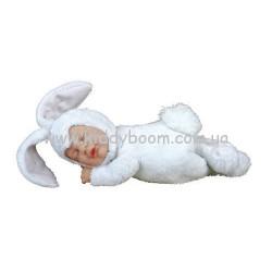 Детки кролики белые 23 см спящие