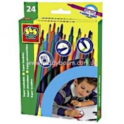 Набор цветных маркеров - СМЫВАЮЩИЕСЯ (24 цвета)