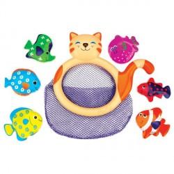 Игрушка для ванной Ks Kids Сачок Кошка Ми-ми с рыбками (10421)