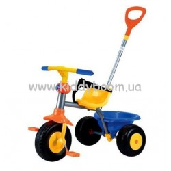 Велосипед My First Trike 2 в 1 синє-жовто-оранжевий