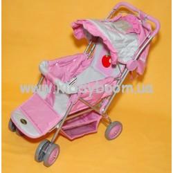 Коляска кукольная с сумкой 606-2 Baofeng