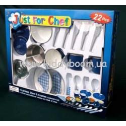 Кухоный набор з нержавеющей эмалированой стали - 22 предмета  (Champion СН2022SEM)
